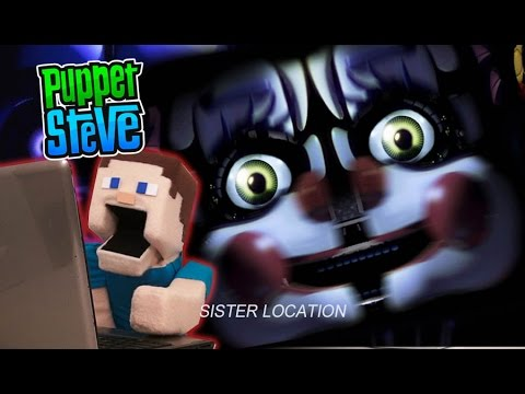 Five Nights at Freddy&39;s FNAF Sister Location JumpScare Reaction Minecraft Gameplay Puppet Steve
