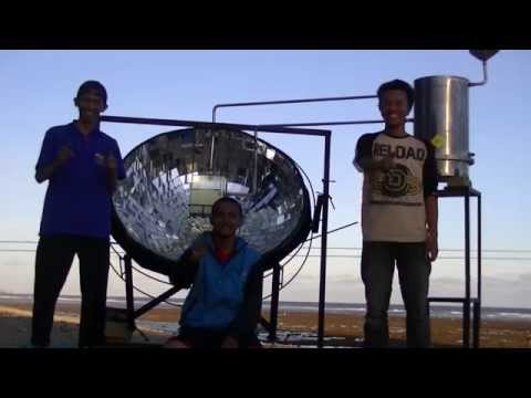 PARABOLIC SOLAR COLLECTOR SYSTEM FOR SEAWATER DESALINATION