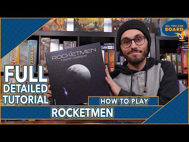 ROCKETMEN | FULL Tutorial & Overview | A Martin Wallace, Deck-Building, SPACE RACE!