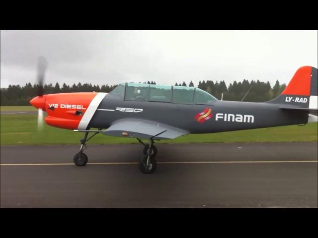 First Test Flight - REDA03 - Diesel Powered Piston Engine - Flying Yak-152 Trainer Aircraft