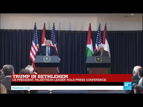 Trump in Bethlehem: US president holds press conference alongside Palestinian Leader Abbas