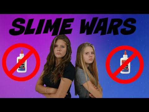 SLIME WARS: NO GLUE || NO BORAX || Taylor and Vanessa