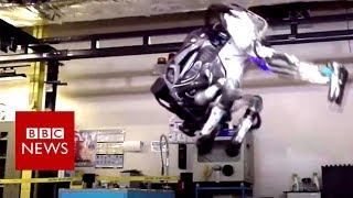 The humanoid robot that can do a backflip - BBC News