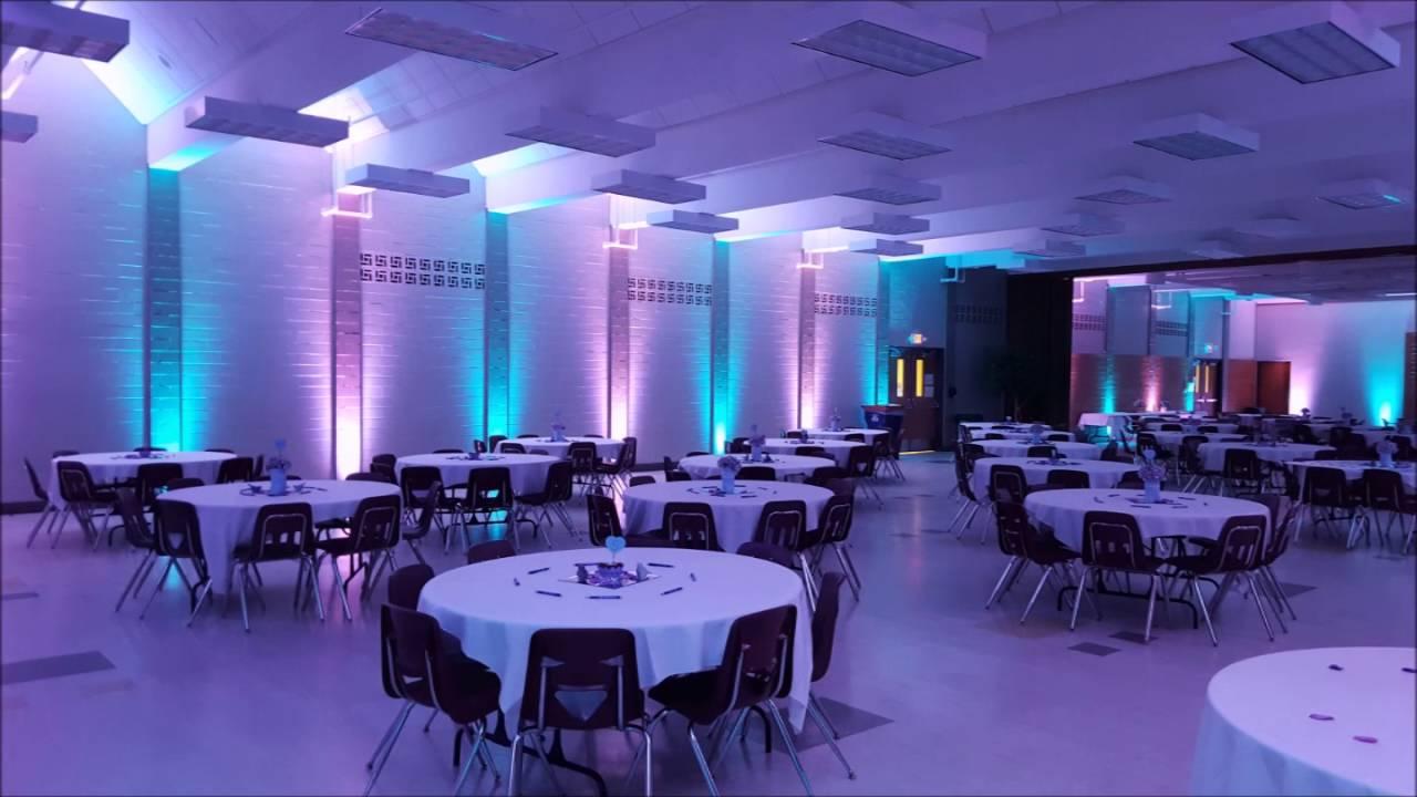 Marshall school cafeteria wedding lighting by Duluth Event Lighting & Marshall school cafeteria wedding lighting by Duluth Event ... azcodes.com