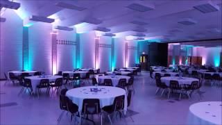 Marshall school cafeteria wedding lighting by Duluth Event Lighting