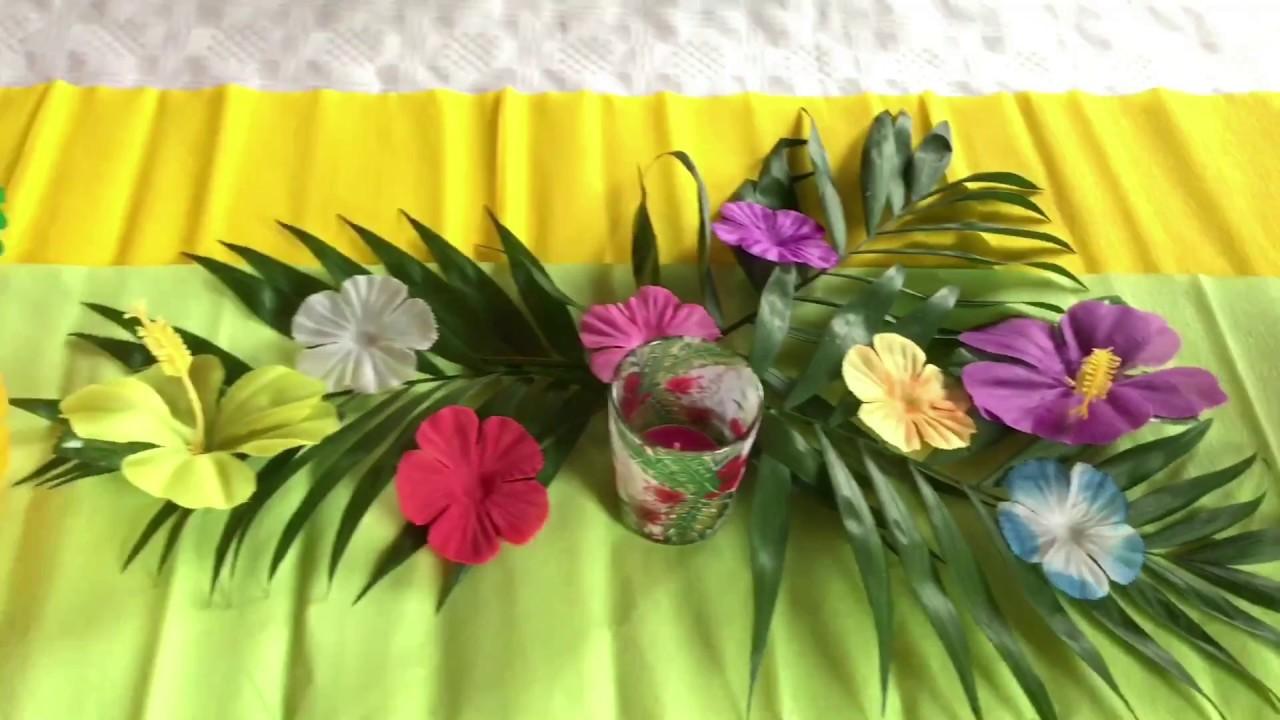 hawaii party deko youtube. Black Bedroom Furniture Sets. Home Design Ideas