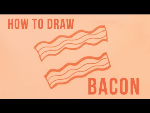 How to Draw Bacon - Easy Things to Draw - YouTube