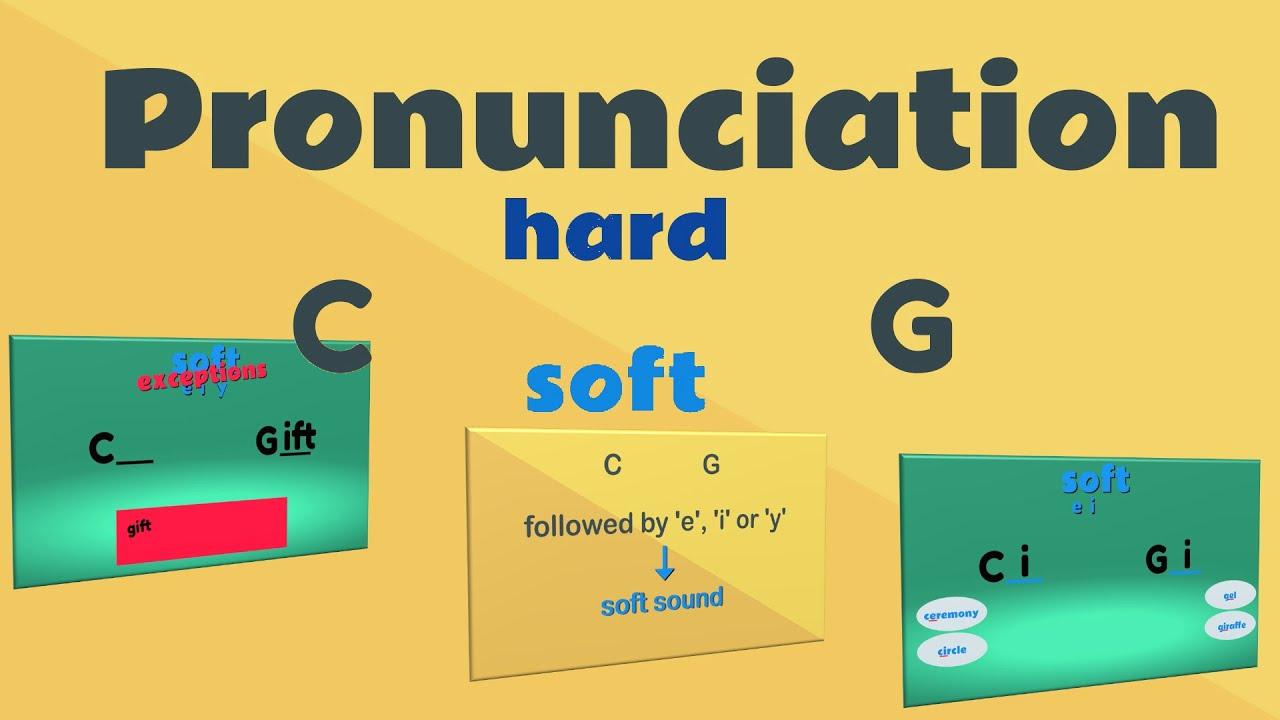 Pronunciation: C and G Hard \u0026 Soft Sounds   EasyTeaching - YouTube [ 720 x 1280 Pixel ]