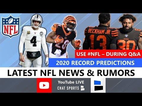 NFL News, Rumors On Derek Carr, Joe Mixon, Stephen A. Smith, Antonio Brown + 2020 Record Predictions
