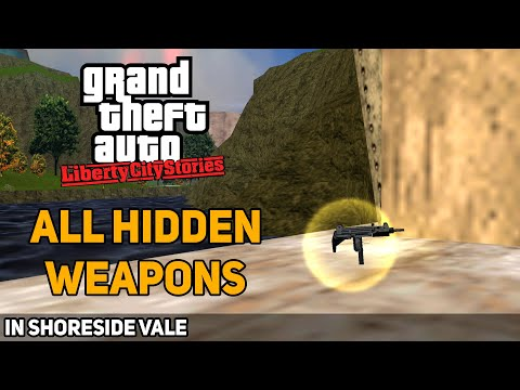 GTA: Liberty City Stories - All Hidden Weapons In Shoreside Vale