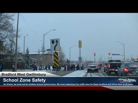 School Zone Safety - Bradford Ontario Canada -