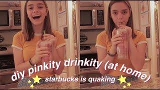 making my own starbucks pink drink