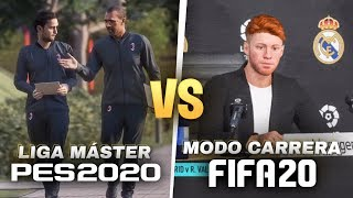 FIFA 20 MODO CARRERA VS LIGA MASTER PES 20 *probamos gameplay demo*