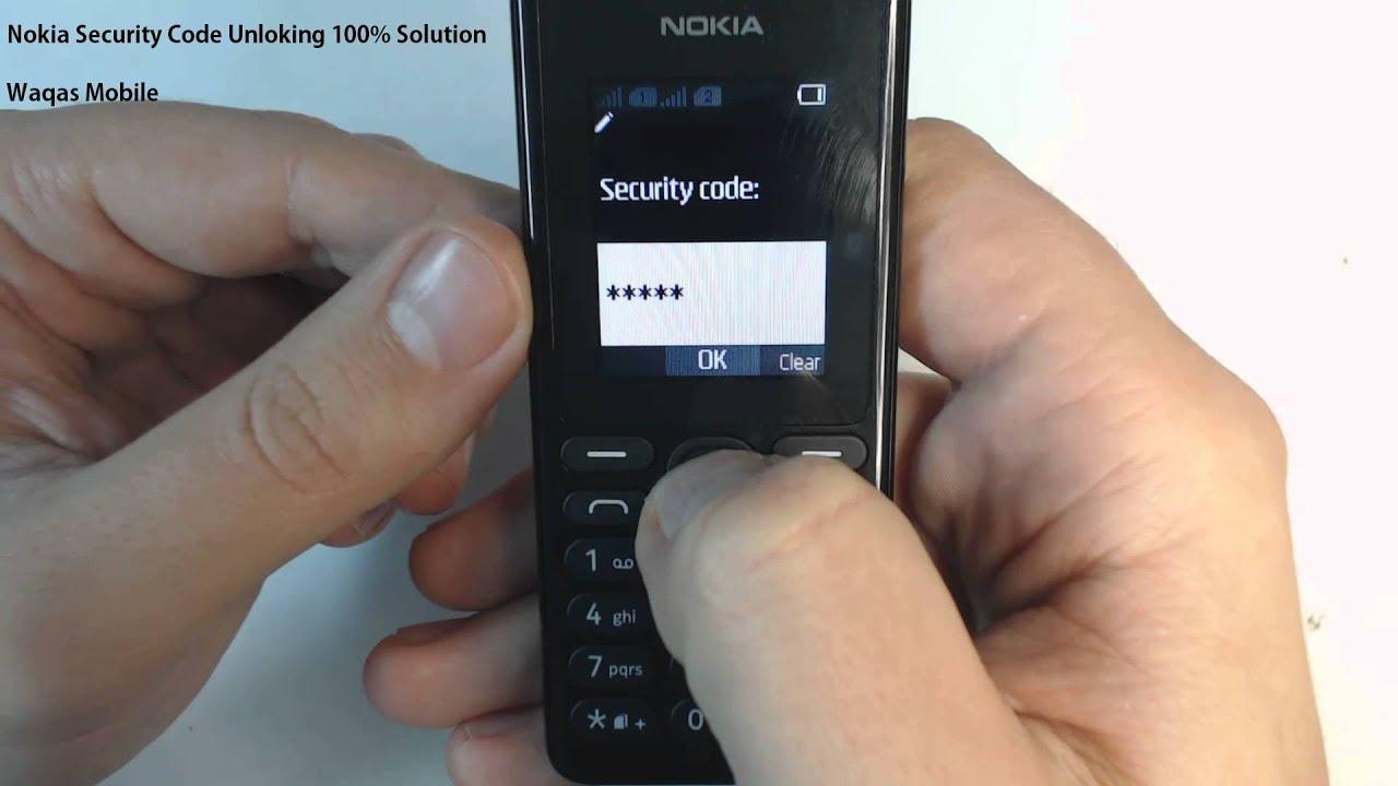 nokia 105 security code reset software