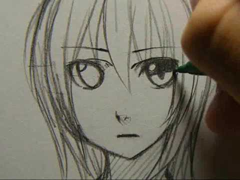 Drawing sketch anime girl