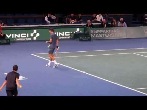 BNP Paribas Masters 2013 - Roger Federer service game
