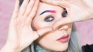 Sweatproof Pink & Blue Ombre Eyebrow How To With ColourPop | KristenLeanneStyle