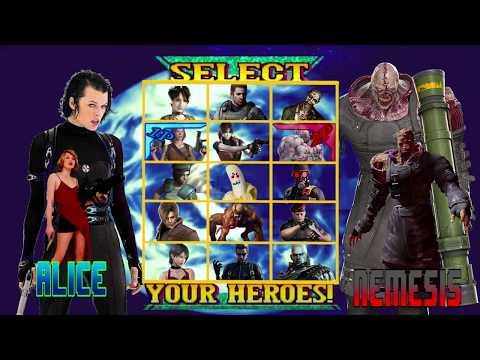 Alice Vs Nemesis With Healthbars Resident Evil Apocalypse 2004 Youtube