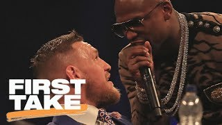 Max Kellerman says Floyd Mayweather will be more aggressive with Conor McGregor | First Take | ESPN