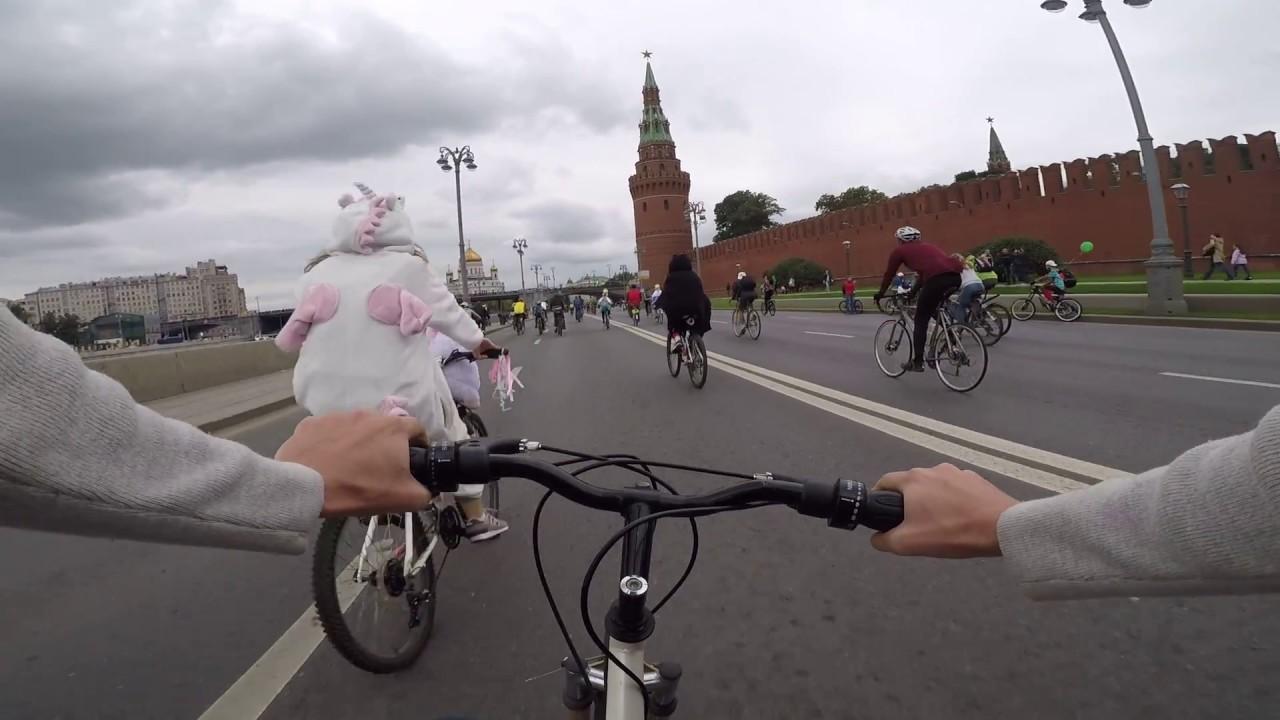 ПРОИСШЕСТВИЕ НА ВЕЛОПАРАДЕ Москва GoPRO 5 Осенний велопарад сентябрь 2017