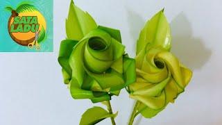 Rose From Coconut Leaves Palm Leaves Knitting Method 9- Flowers For Vietnamese Women's Day 20-10