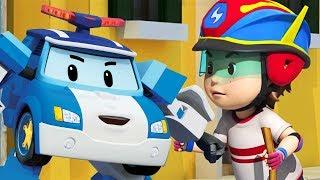 Çizgifilm Robocar Poli. Güvenli sürüş kuralları