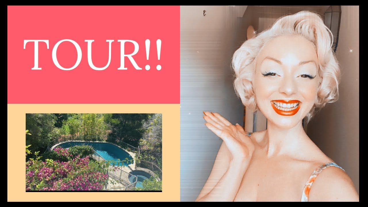 TOUR OF MY GARDEN AT MARILYN MONROE'S HOUSE!