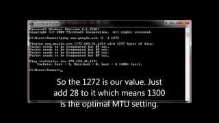 How to Determine optimal MTU setting for router