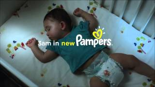 P&G - Pampers Disposable Diapers - Love Sleep & Play at 3 a.m. - Commercial   2013