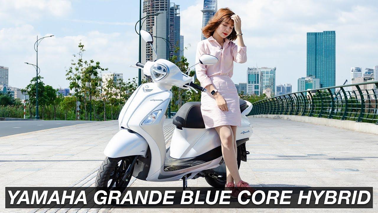 Đánh giá Yamaha Grande Blue Core Hybrid 2019 - an toàn và vui vẻ hơn | Xe.Tinhte.vn