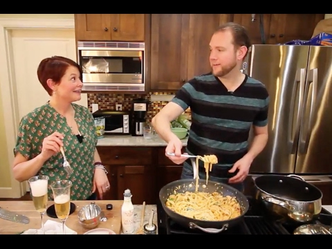 Fettuccine  Alfredo with Shrimp & Sun-Dried Tomatoes - EP 1