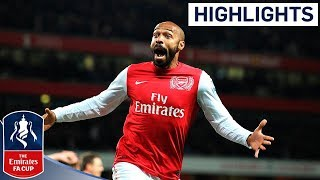 Henry scores on Arsenal return against Leeds | FA Cup 3rd Round 2012