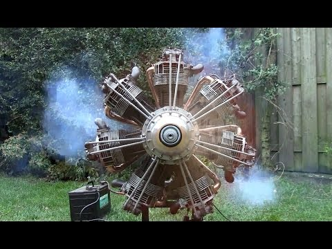 RADIAL ENGINE MADE OF AIRCOOLED VW-PARTS!