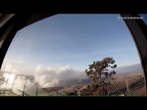 Kīlauea Volcano — Weak Plume at Halem`uma`u (webcam)