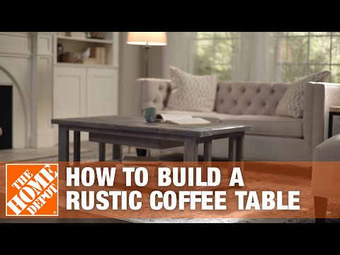 DIY Coffee Table: Rustic Coffee Table | The Home Depot