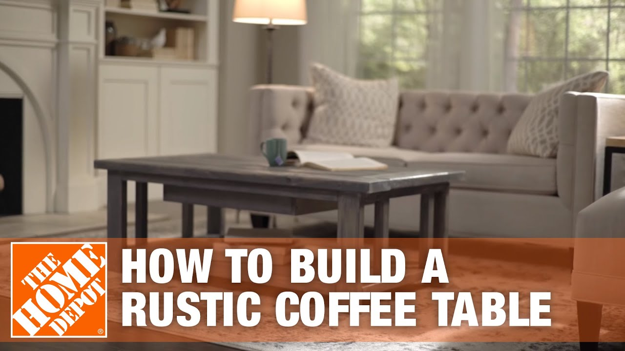 diy coffee table rustic coffee table the home depot