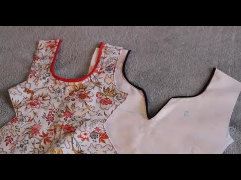 How to make piping on neckline
