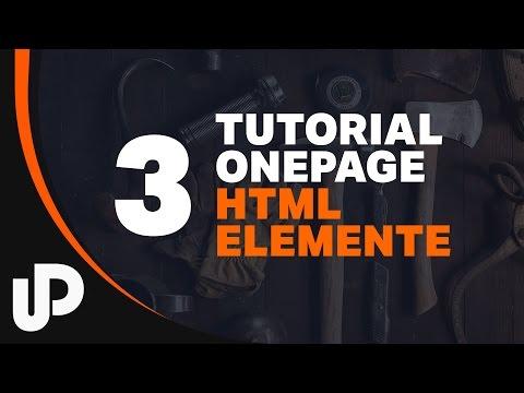 OnePage Tutorial - Screendesign zu HTML Tags | Tutorial | #3