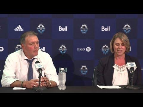 Press conference: Bob Lenarduzzi and Rachel Lewis on Davies' transfer to Bayern Munich