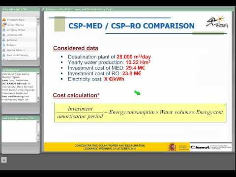 2nd CSP Training series : solar desalination (2/2)