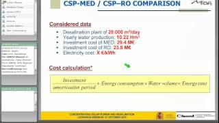 2nd CSP Training series : solar desalination (2/2)