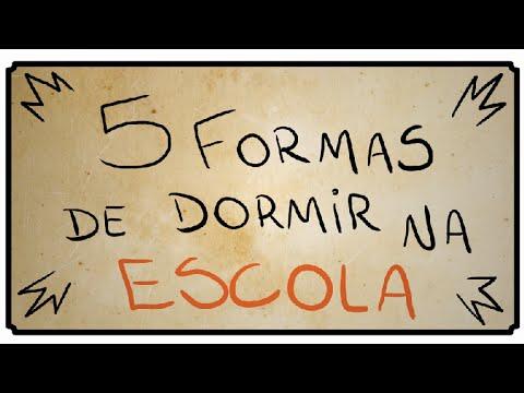 5 FORMAS DE DORMIR NA ESCOLA