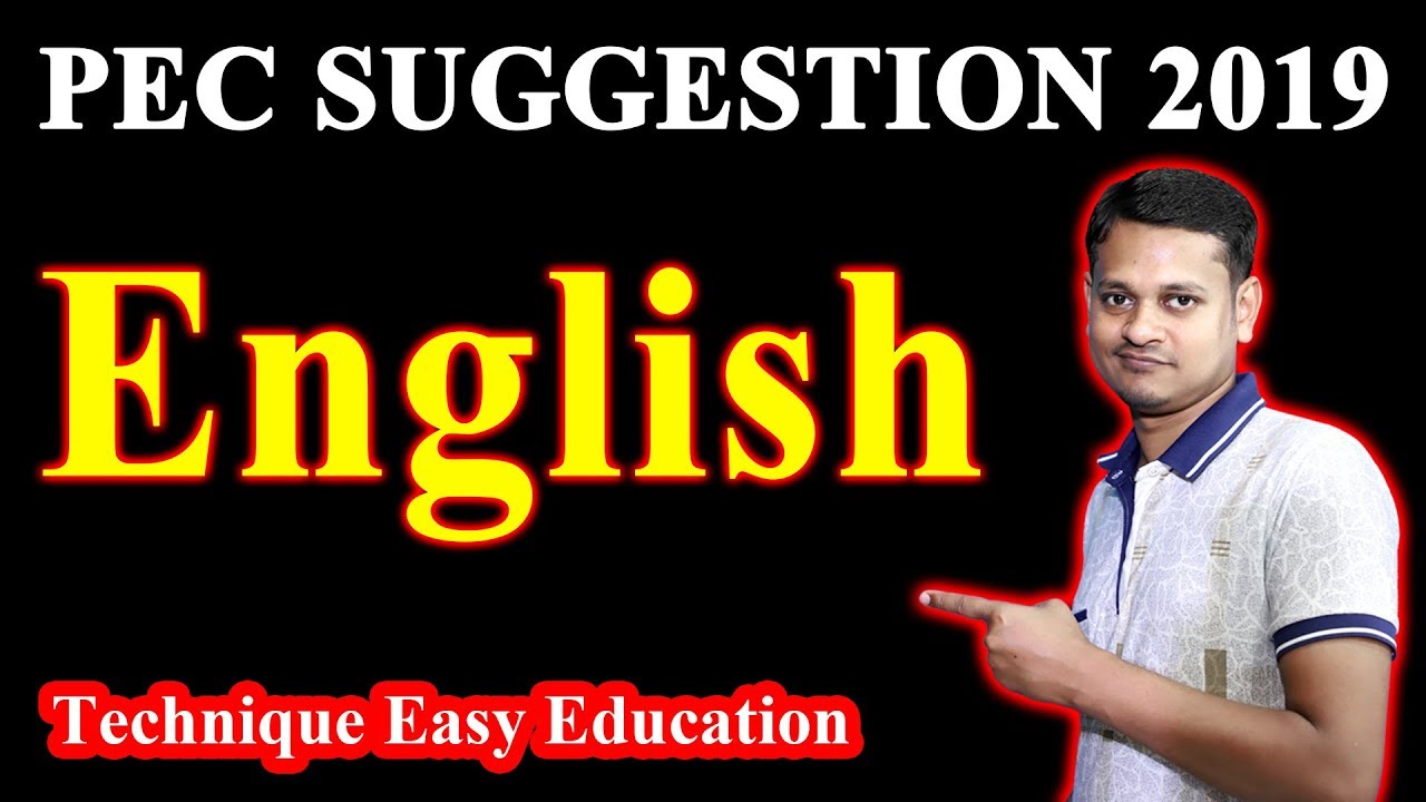 PEC English Suggestion 2019 || পিইসি ইংরেজি সাজেশন || PSC English Suggestion || পিএসসি ইংরেজি সাজেশন