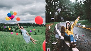 How To Creative Shoot Props/Portrait In Rainy Season. 📷💦 (Easy Photography Ideas)