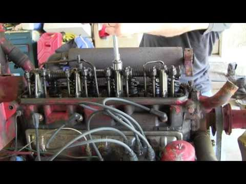 Ford Jubilee NAA Tractor Engine Rebuild Part 2 Valve Cover, Distributor and Hydraulic Pump Removal