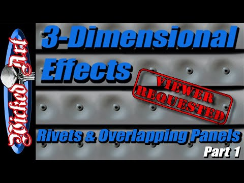 3-Dimensional Effects: How-To Airbrush Rivets & Overlapping Panels (Part 1)