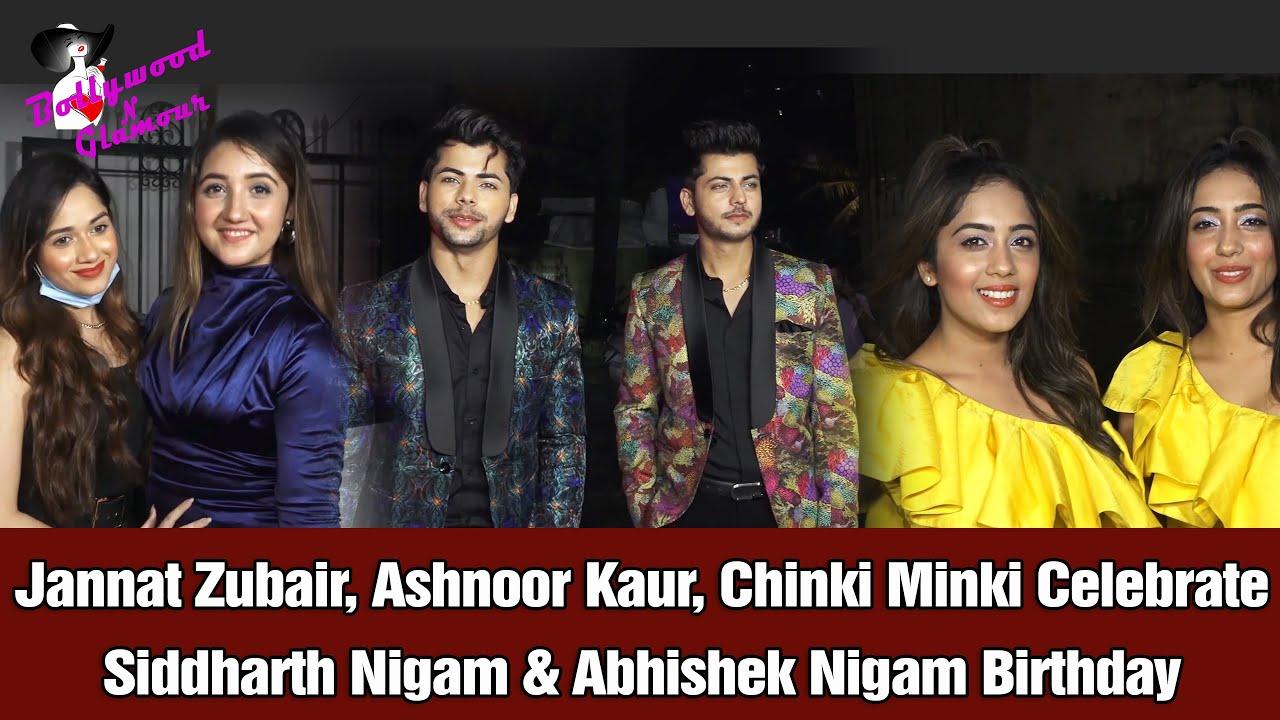 Jannat Zubair, Chinki Minki, Ashnoor Kaur Celebrate Siddharth Nigam & Abhishek Nigam Birthday
