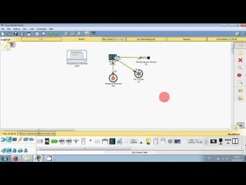 Packet Tracer 7.0 - IoT - Temperature Monitor 1/2