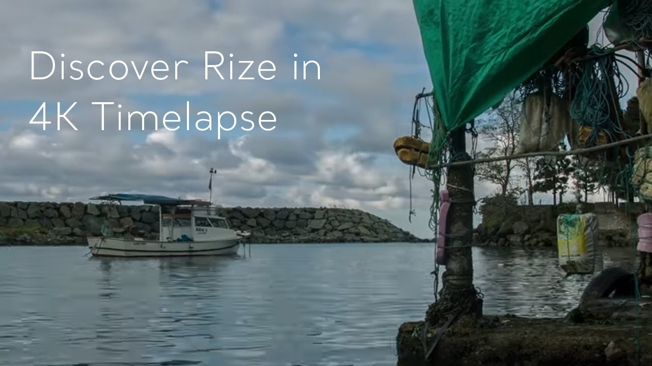 Go Turkey - Discover Rize in 4K Timelapse