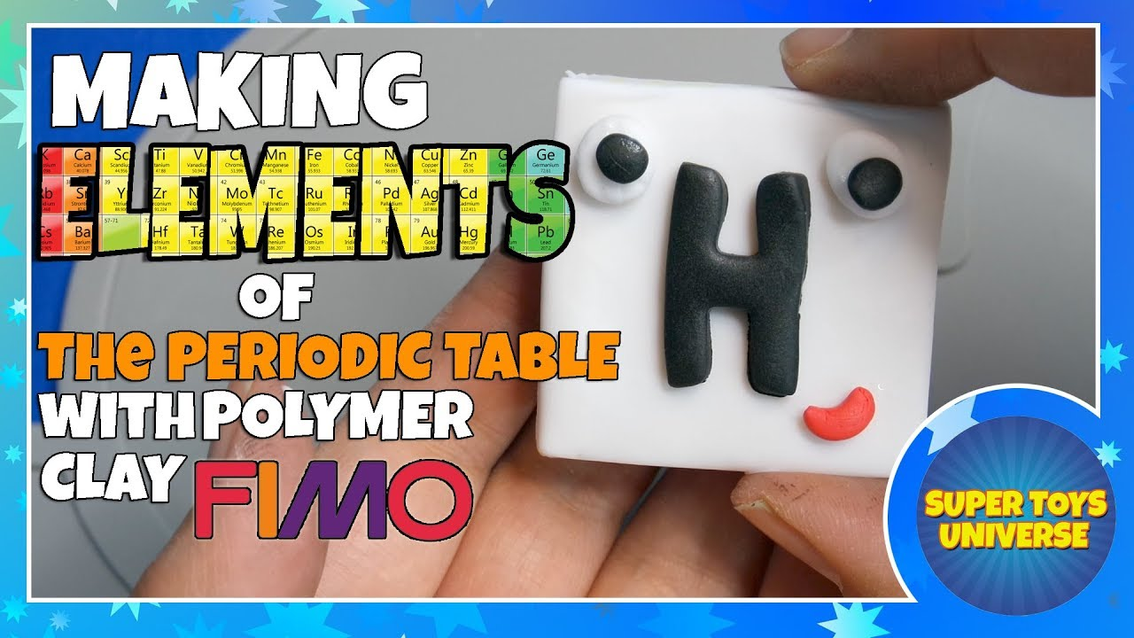 Making elements of the periodic table with polymer clay fimo making elements of the periodic table with polymer clay fimo hydrogen oxygen like numberblocks gamestrikefo Choice Image